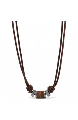 FOSSIL JEWELS MENS BROWN NECKLACE